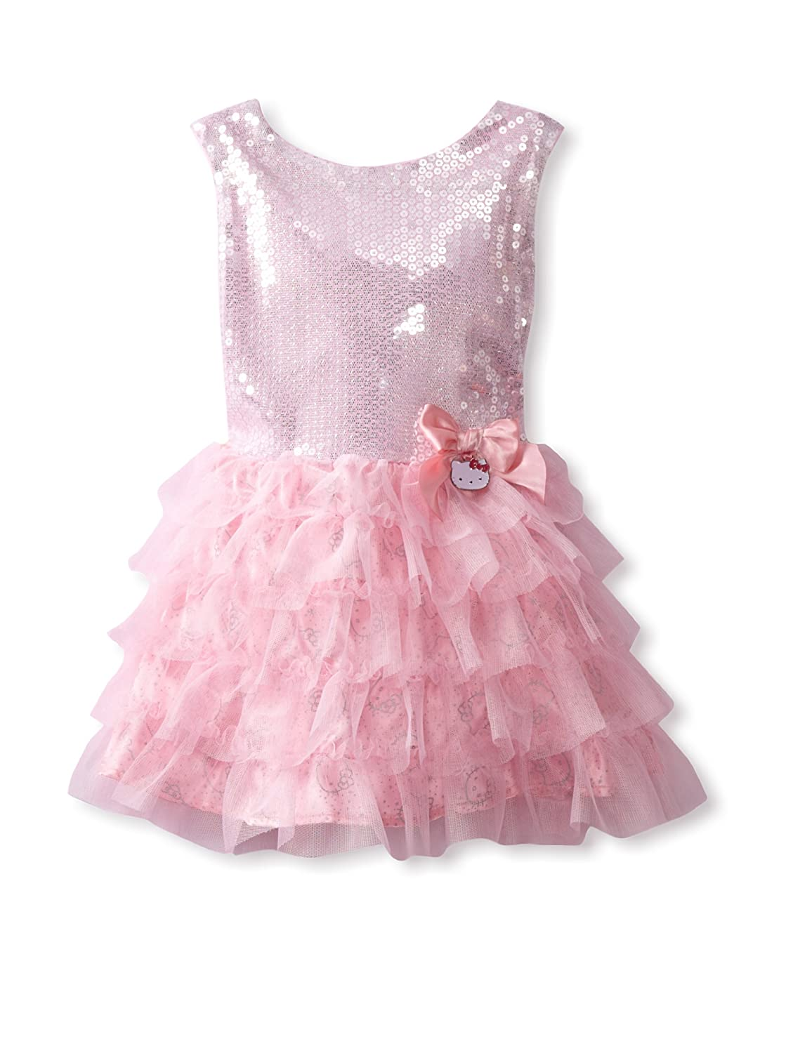 e90aa9c7f Amazon.com: Hello Kitty Little Girls' Princess Easter Sequin Tiered Holiday  Dress, Pink, 2T: Special Occasion Dresses: Clothing