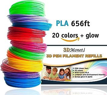 3D PrintFilament Ink Filament PLA Filament 3D Stift Filament f/ür 3D Drucker-Stift 3D Pen 3D Stift 3D Drucker 12 PCS 1,75 MM 10M iRuipai 3D Stift Filament