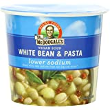 Dr. McDougall's Right Foods Vegan White Bean & Pasta Soup, Light Sodium, 1.8-Ounce Cups (Pack of 6)