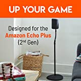 """""""Made for Amazon"""" Height Adjustable Floor Stand for Echo (3rd Gen) and Echo Plus (2nd Gen) - 2-Pack"""