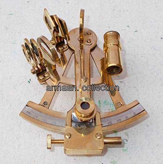 Nautical Sextant 9 Inch Antique Vintage Brass Navy Working Marine Instrument