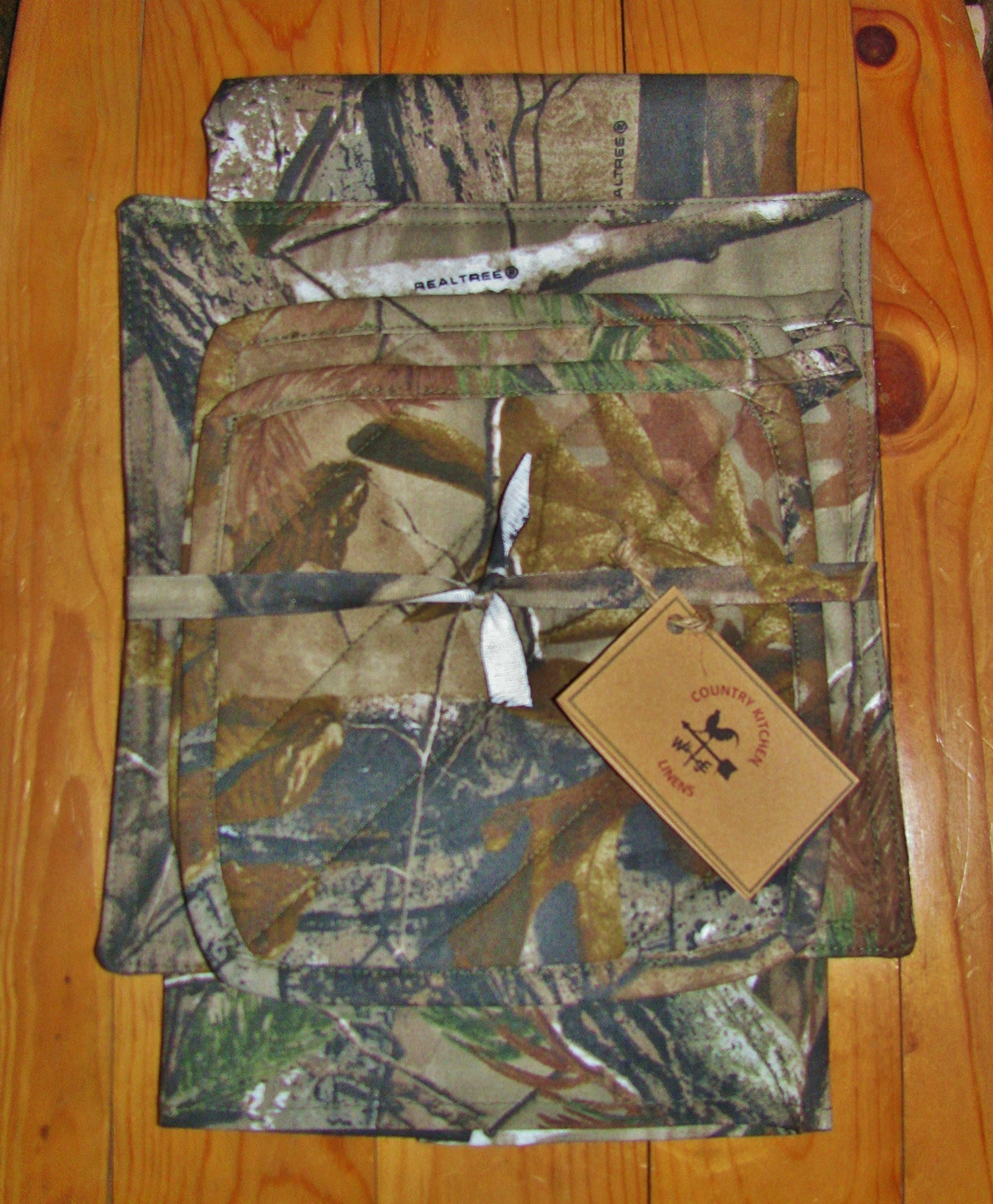 Tree Camo Kitchen Linens Set (5 Items Total) by Country Kitchen Linens