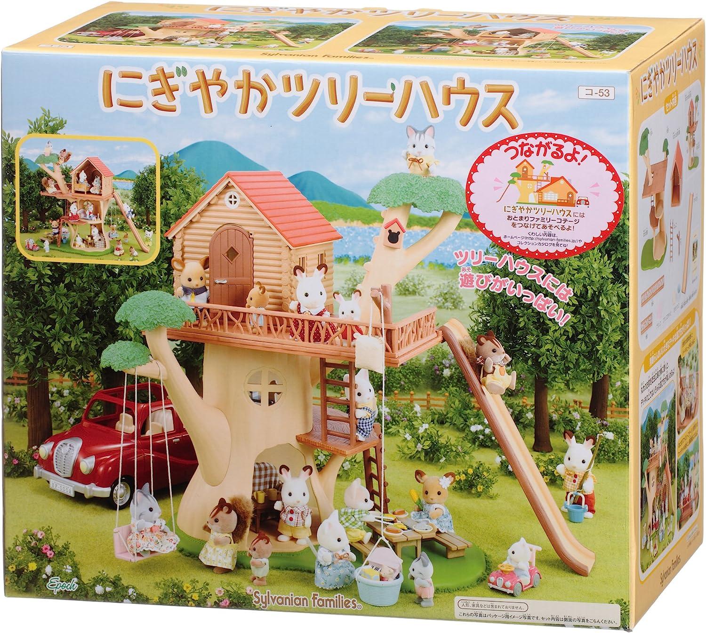 Amazon.es: Sylvanian Families Family Trip Series Bustling Tree House co -53: Juguetes y juegos