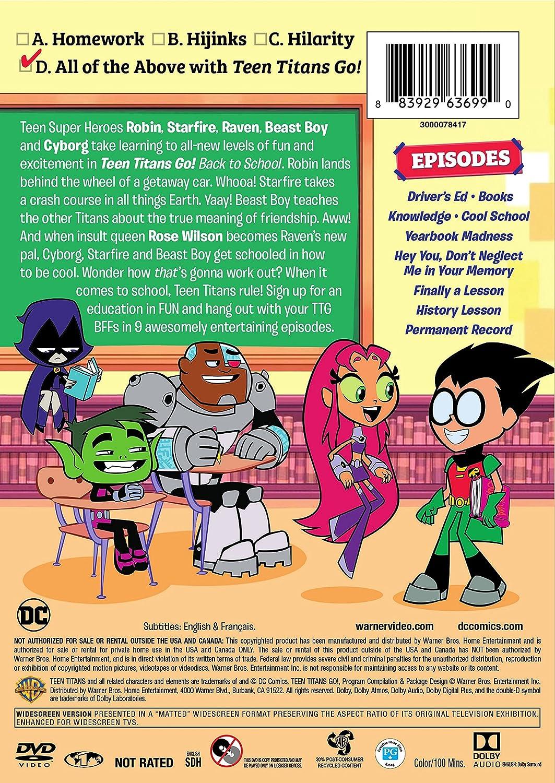 Back to School DVD Teen Titans Go