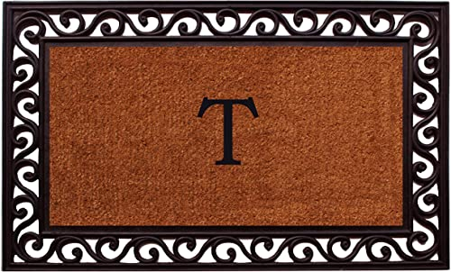 Home More 100061830T Rembrandt Monogram Doormat Letter T