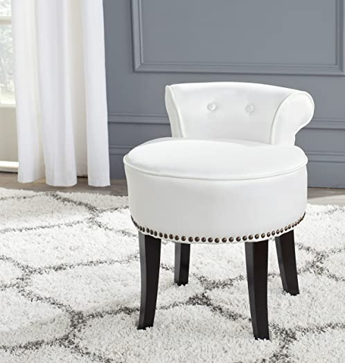 Safavieh Mercer Collection Georgia Vanity Stool White By