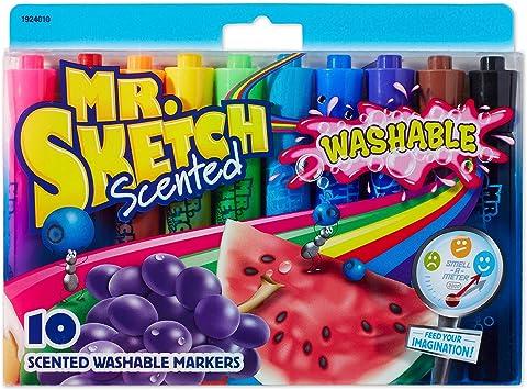 Pack 8 Fruit Lavender /& Mint Scented Smelly Felt Tip Colour Marker Pens Grafix