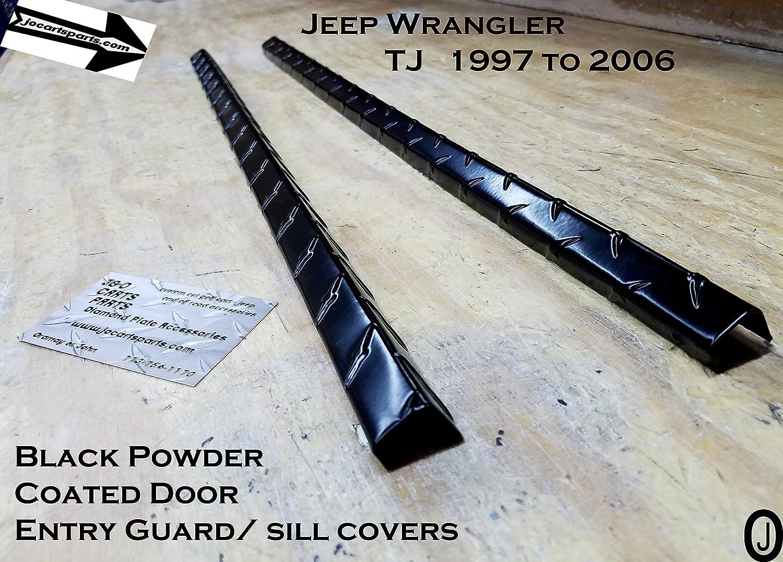 u-Box Black Door Sill Entry Guard Scuff Plate for Jeep Wrangler TJ 1997-2006