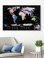 Mapa Mundi Raspar Viagens - Mapa de Raspadinha - Silver XXL