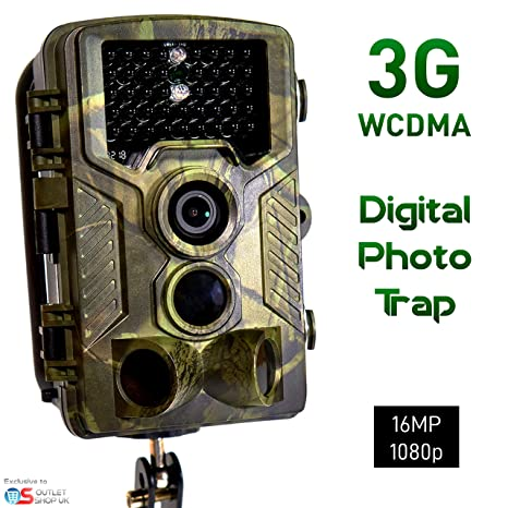 3G SUNTEK CÁMARA ESPÍA REMOTA 16MP/1080p Video Foto Trampa para Fauna Silvestre o la