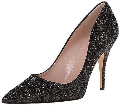 Womens Heels Genuine 90702532 Kate Spade New York Licorice Glitter Point Toe Black