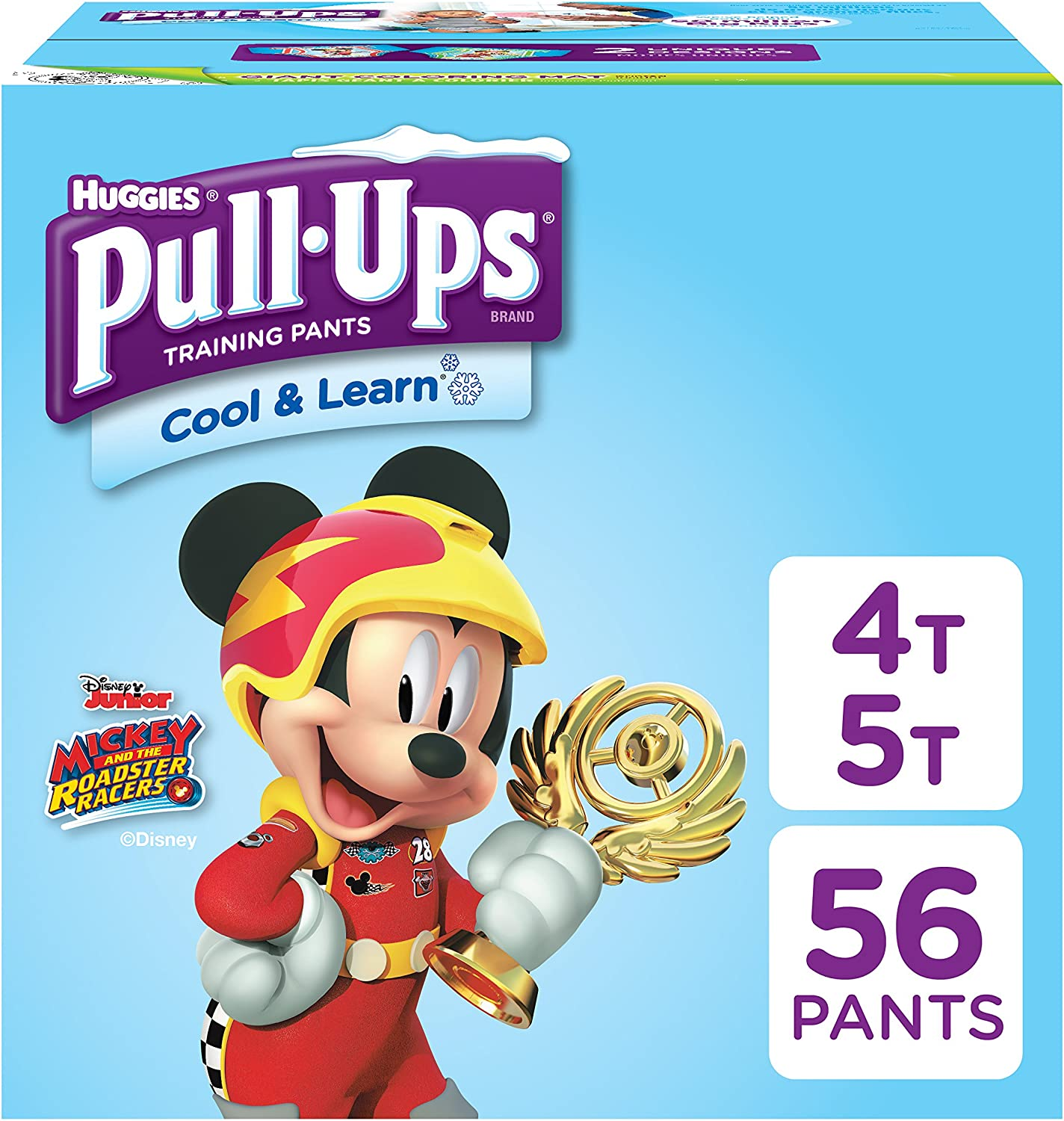 PULL-UPS Cool and Learn Training Pants for Boys, 4t-5t, Giga Special Pack, 56 Count