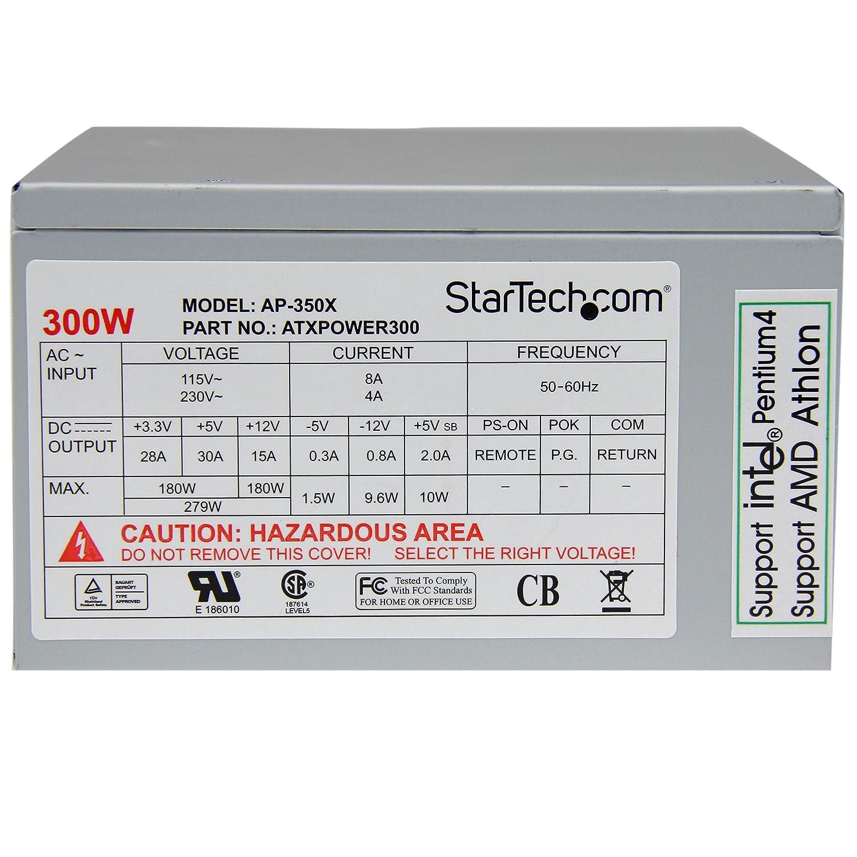 Startechcom Computer Power Supply Internal Atx Wiring Diagram For 12 Volt Tef 20 Ac 115 230 V 300 Watt 9 Output Connectors Computers Accessories
