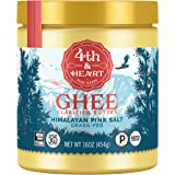 Himalayan Pink Salt Grass-Fed Ghee Butter by 4th & Heart, 16 Ounce, Keto, Pasture Raised, Non-GMO, Lactose Free…