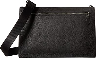 fcd8464f0509 ... norway coach mens manhattan convertible slim messenger qb black one  size c32a2 7dc13