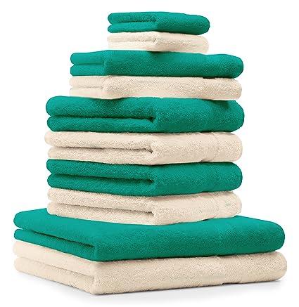 BETZ Juego de 10 toallas CLASSIC 100% algodón 2 toallas de baño 4 toallas de