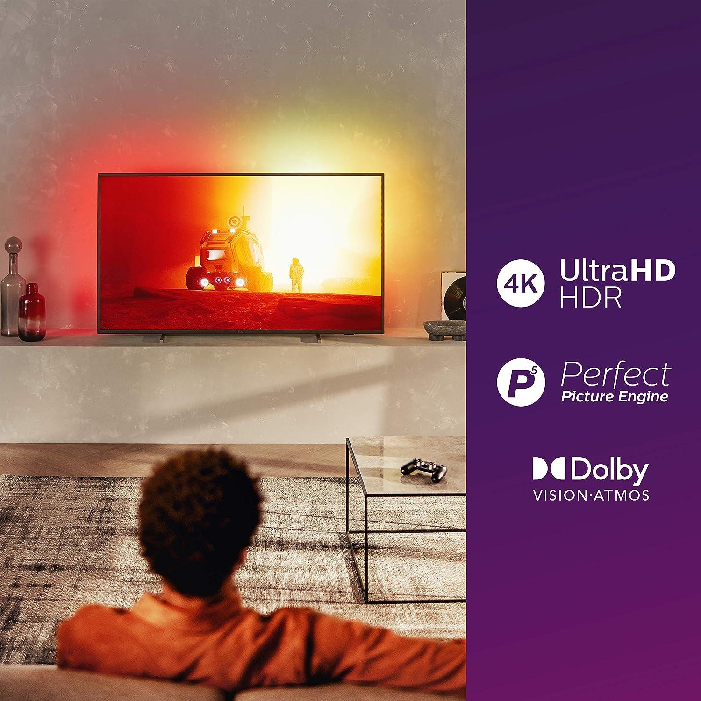 Philips Tv 55pus7805 12 55 Zoll Fernseher Mit Ambilight Und Sprachsteuerung 4k Uhd Led Tv Hdr10 Dolby Vision Dolby Atmos Saphi Smart Tv Rahmen Grau Standfuß Silber Modelljahr 2020 Heimkino Tv