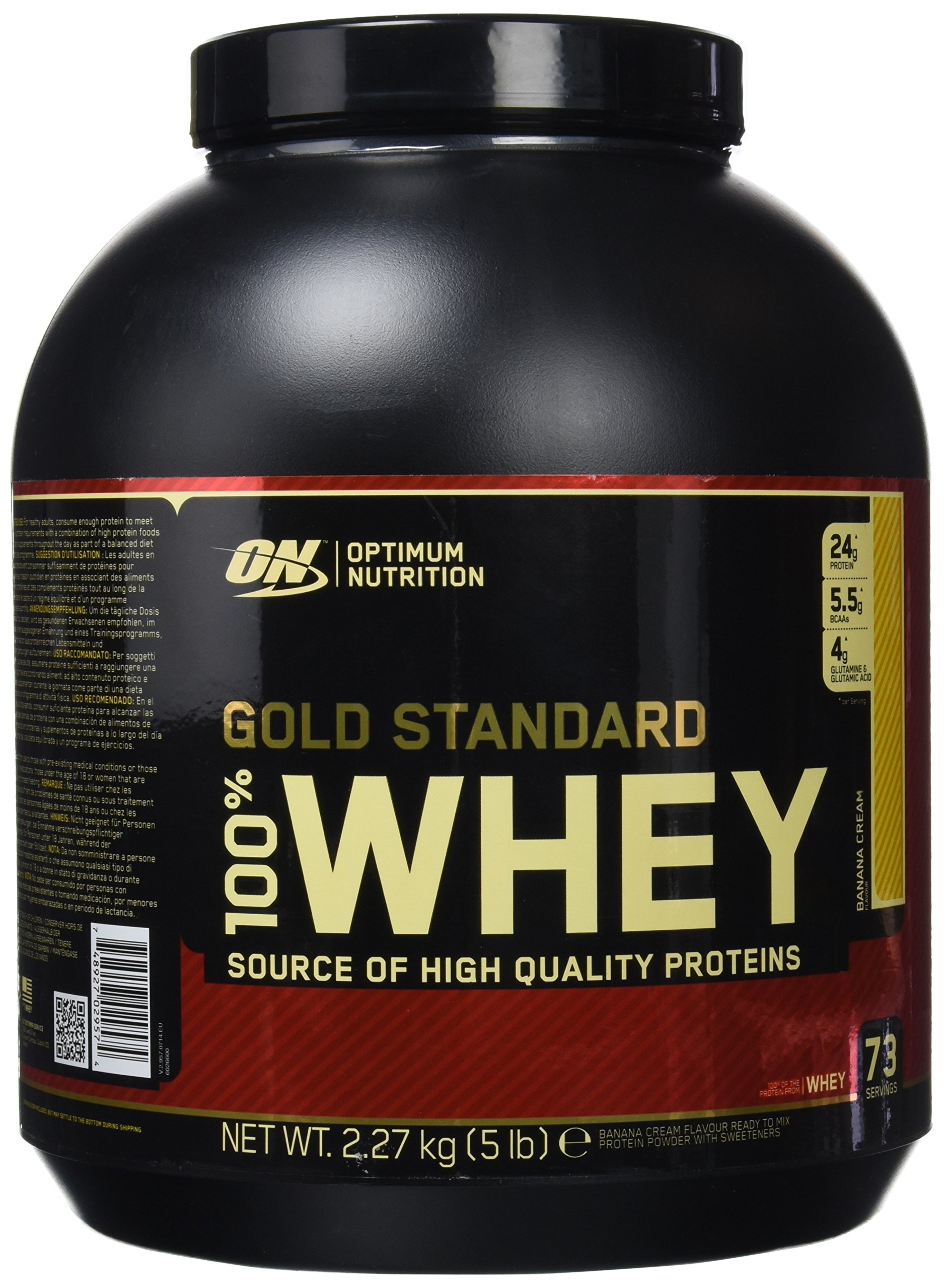 Optimum Nutrition Gold Standard 100% Whey Proteína en Polvo, Platano - 2270 g product