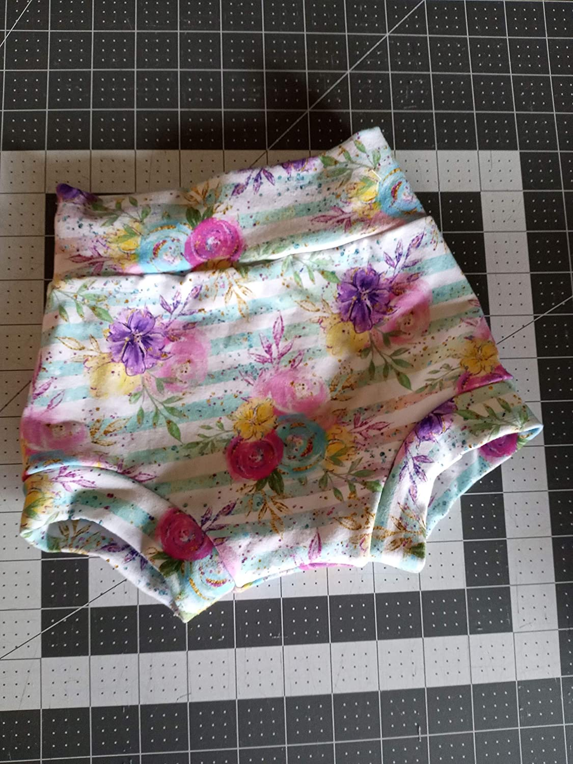 Pink Flamingos Girl Bloomer Blue Diaper Cover Swimsuit Bummies Toddler Shorties Bummie Baby