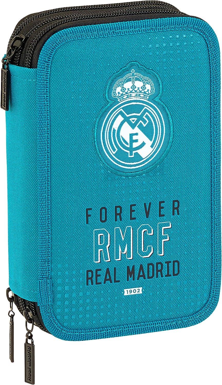 Safta Estuche Real Madrid Equip 17/18 Oficial 41, Útiles Incluidos, 210x60x105mm: Amazon.es: Ropa y accesorios