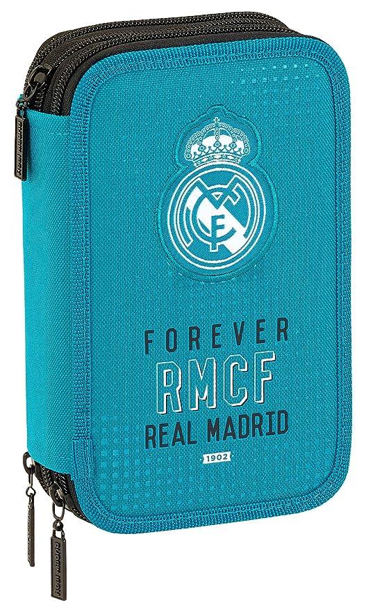 Safta Estuche Real Madrid Equip 17/18 Oficial 41, Útiles Incluidos, 210x60x105mm