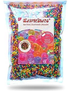 MarvelBeads Water Beads Rainbow Mix (1 Pound Bulk)