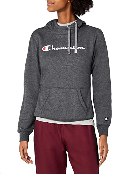 Champion Hooded Sweatshirt-Institutionals, Sudadera con Capucha para Mujer, Gris (Ccom)