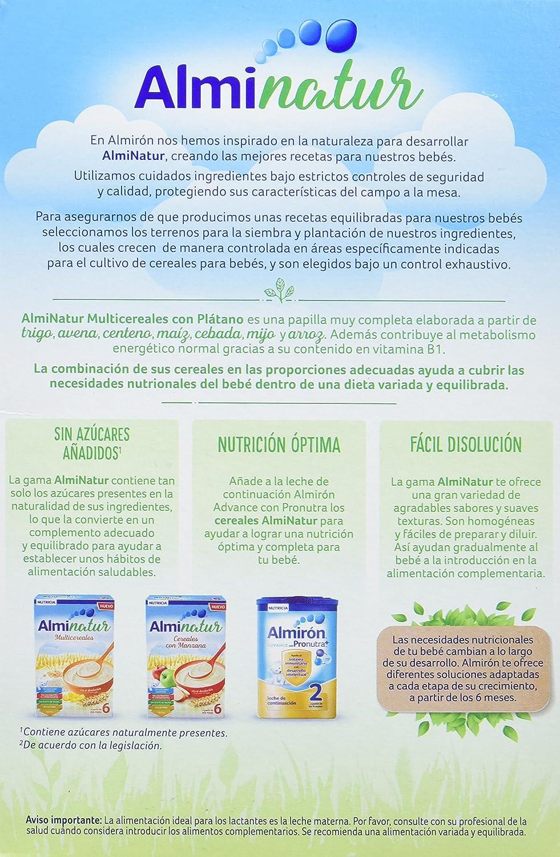 Alminatur Papilla de multicereales con plátano a partir de los 6 meses - 250 gr: Amazon.es: Alimentación y bebidas