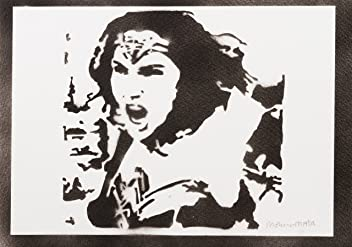 Wonder Woman Justice League Poster Plakat Handmade Graffiti Street Art - Artwork