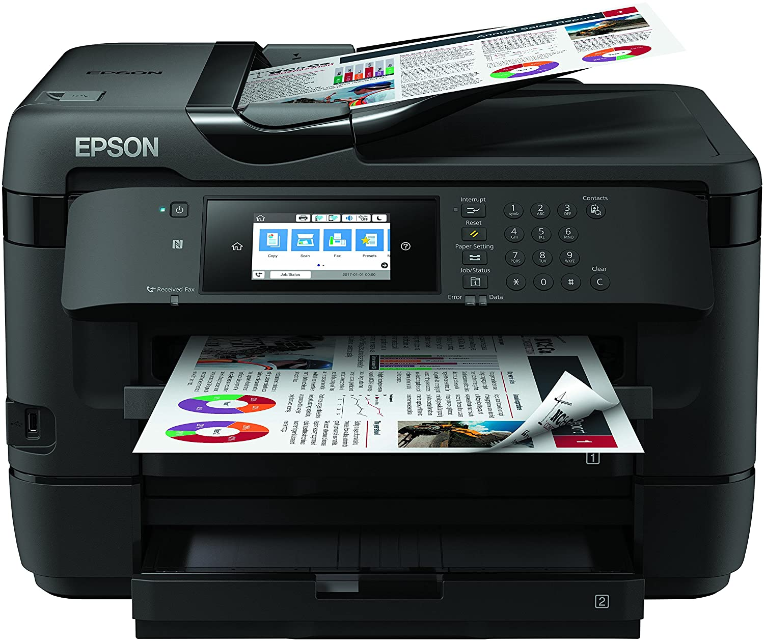 Epson WorkForce WF DTWF Impresora color negro
