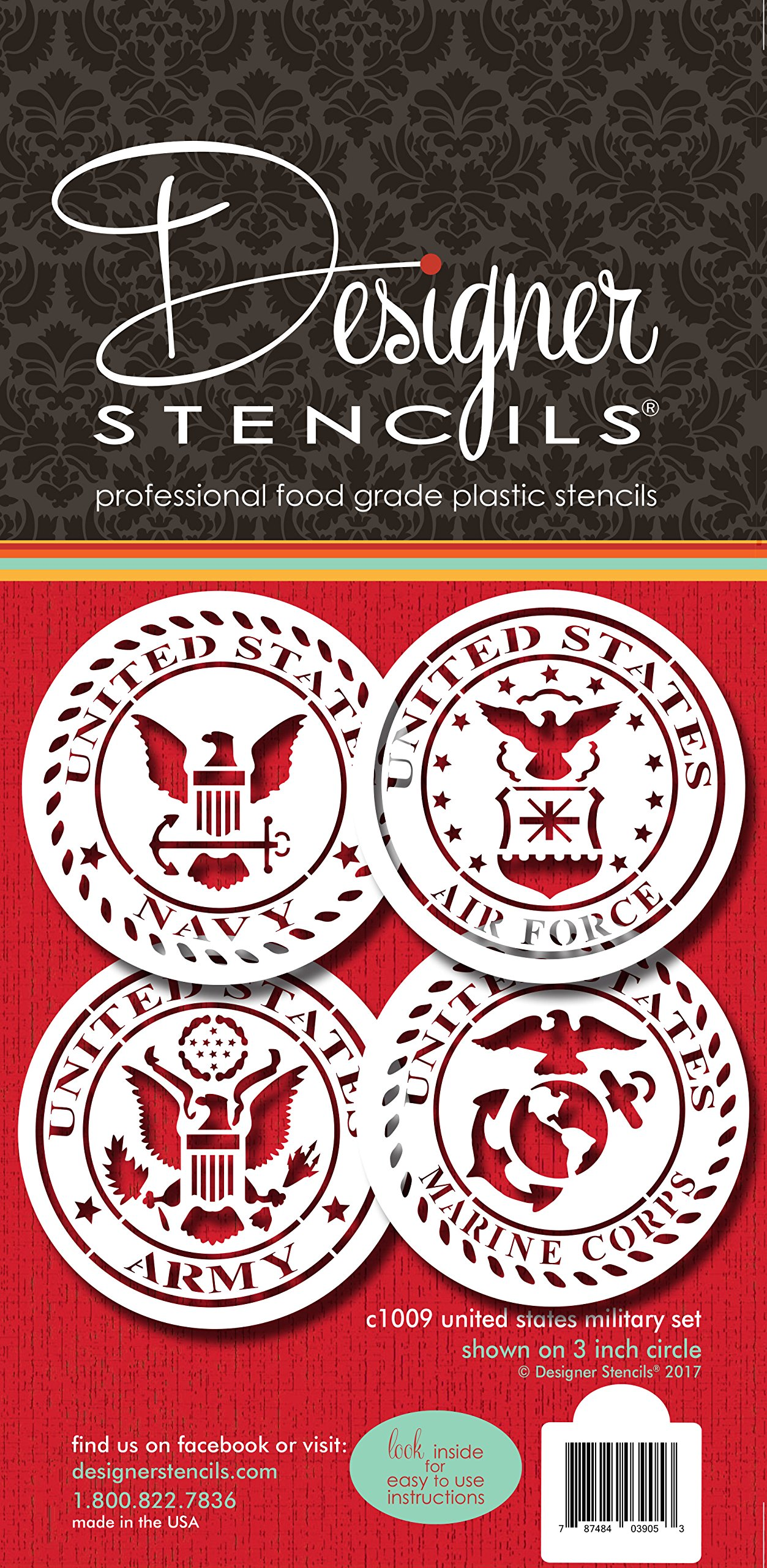 US Military Seals Cookie Stencil Set C1009 by Designer Stencils by Designer Stencils