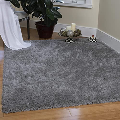 Ottomanson Flokati Collection Faux Sheepskin Shag Area Rug, 7 10 X9 10 , Dark Grey