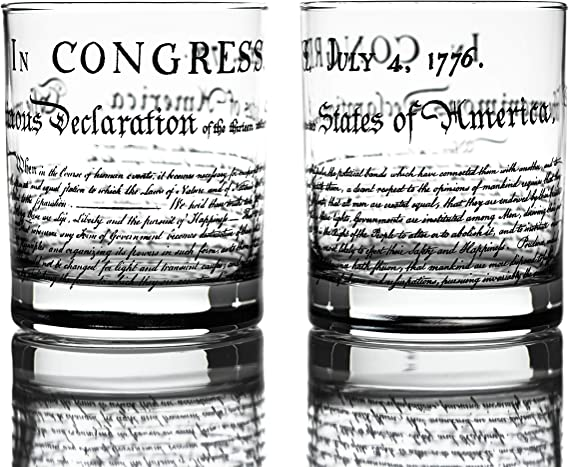 Declaration of Independence Whiskey Glasses