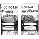Greenline Goods Whiskey Glasses - Declaration of Independence (Set of 2) | 10 oz Tumblers - American US Patriotic Gift…