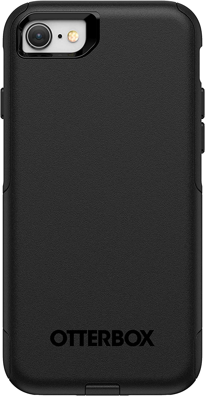 OtterBox Commuter Smooth Case for iPhone SE (2020), iPhone 8, iPhone 7 (NOT Plus) Non-Retail Packaging - Black