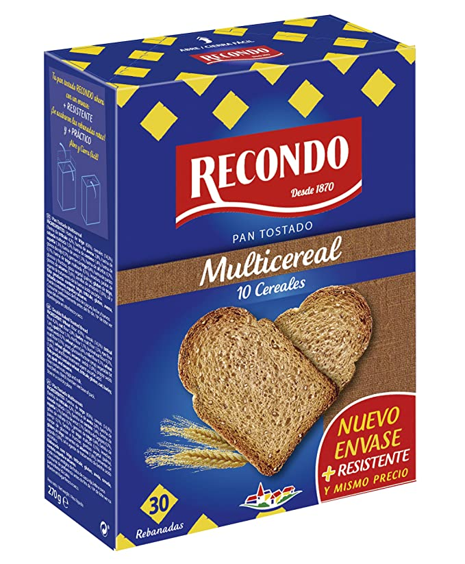 Recondo Pan Tostado Multi - 30 Rebandas: Amazon.es: Amazon ...