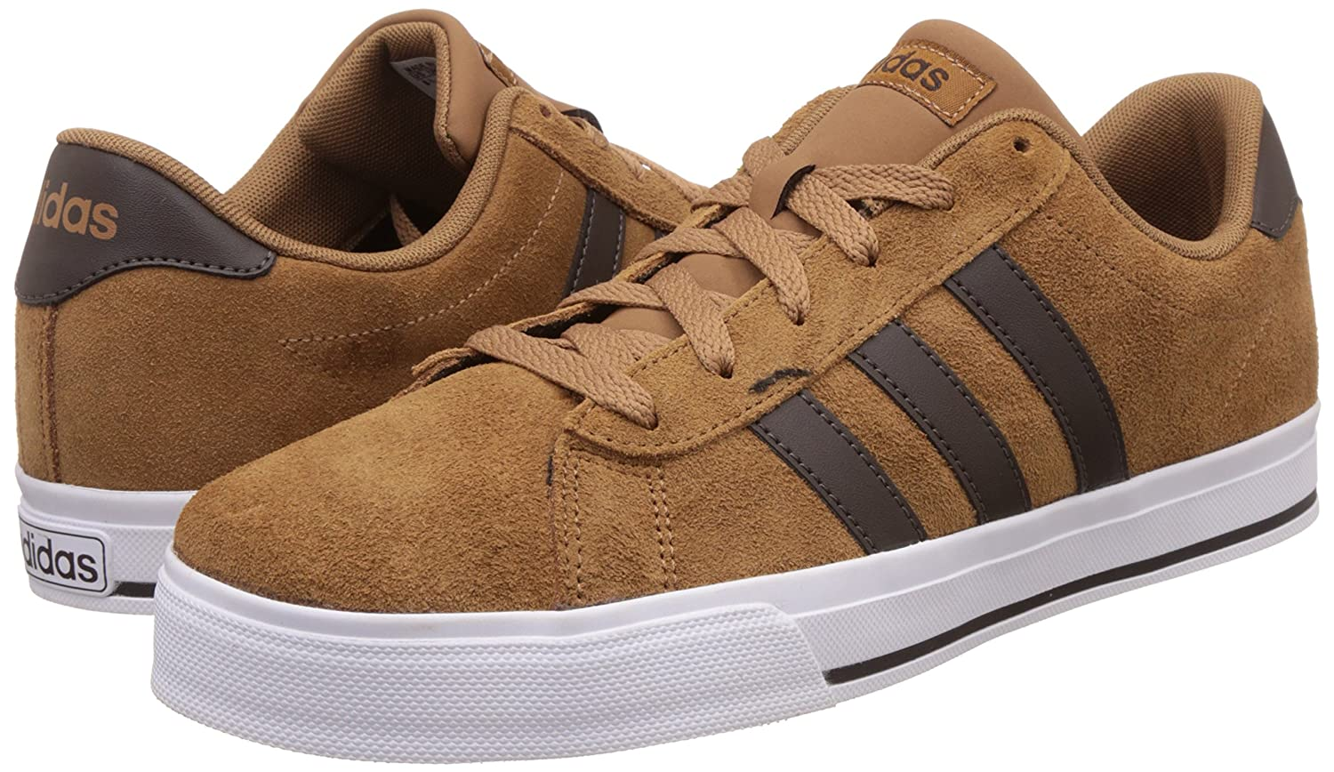buy popular 55fd2 e1c61 adidas neo Mens Daily Timber, Dbrown and Ftwwht Leather Sneakers - 12  UKIndia (47.3 EU) Buy Online at Low Prices in India - Amazon.in