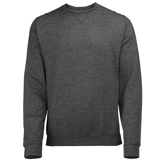 Pullover, meliert, Rundhalsausschnitt