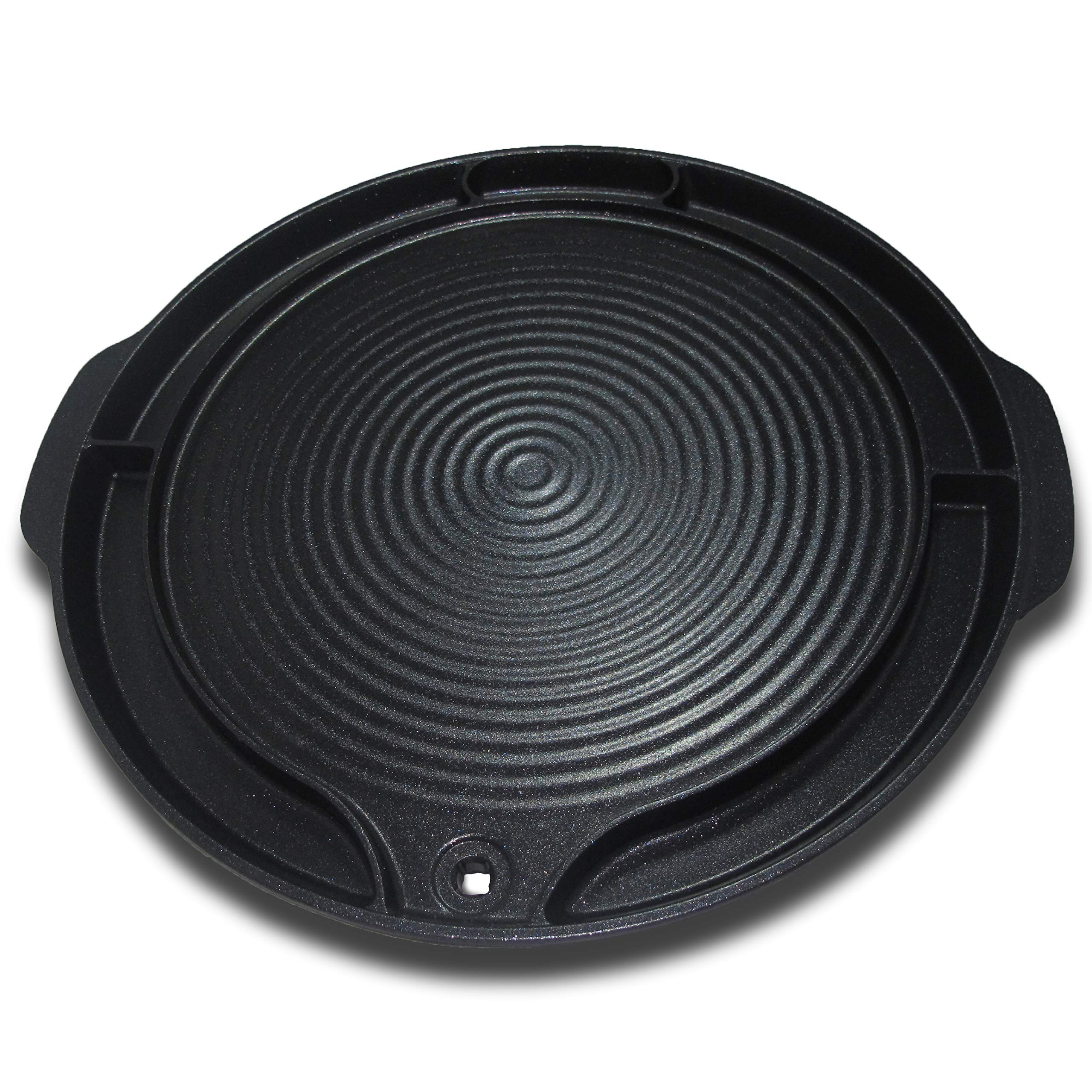 Tomoroo - Stove Top Korean BBQ Grill Pan - Non Stick Portable Barbeque Grilling Griddle Plate for Indoor and Outdoor