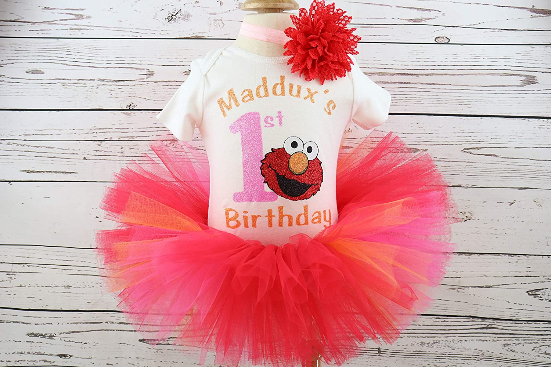 Baby girl birthday Bodysuit set any name Personalised