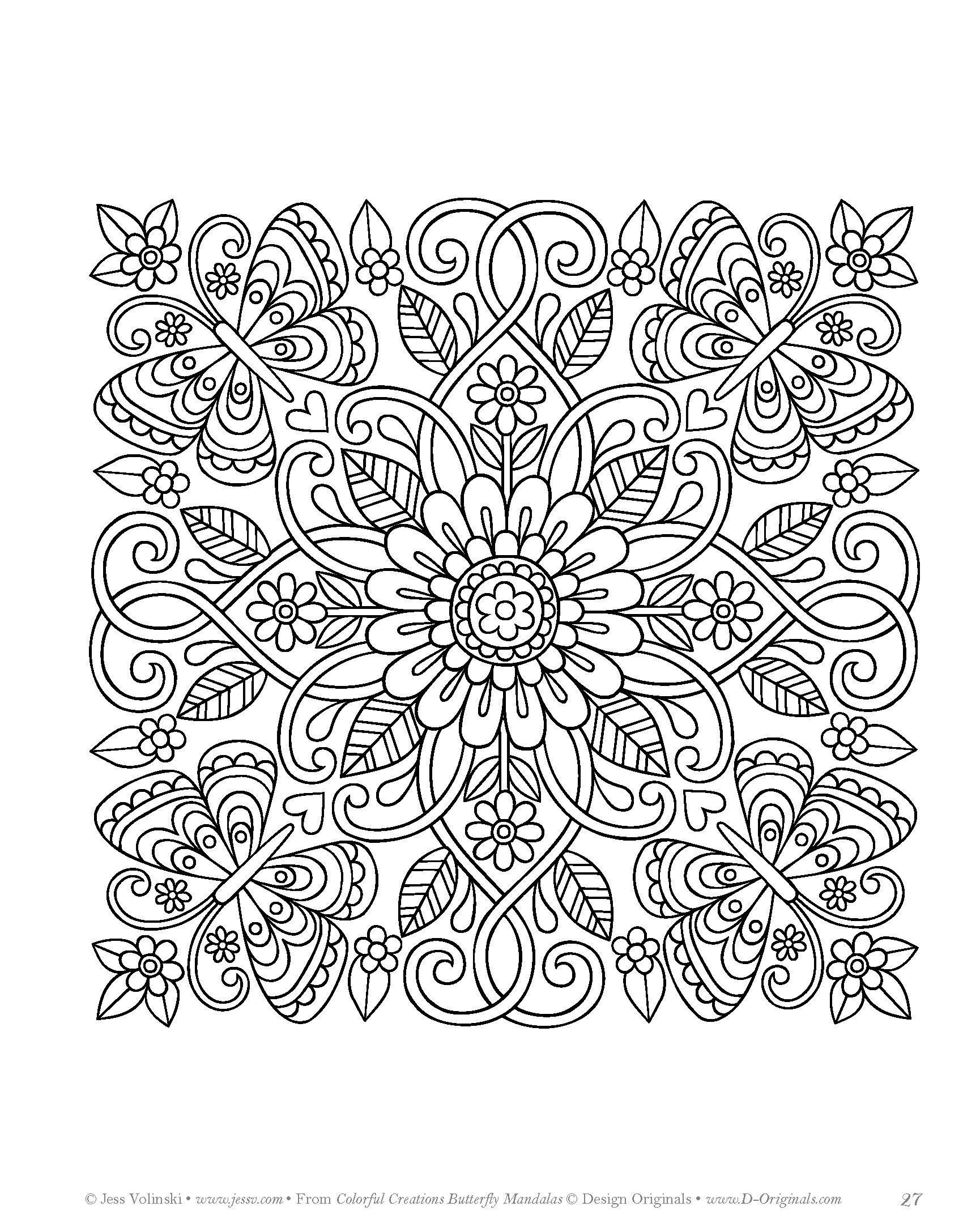 Colorful Creations Butterfly Mandalas Coloring Book Pages Designed To Inspire Creativity Amazoncouk Jess Volinski 9781497202610 Books