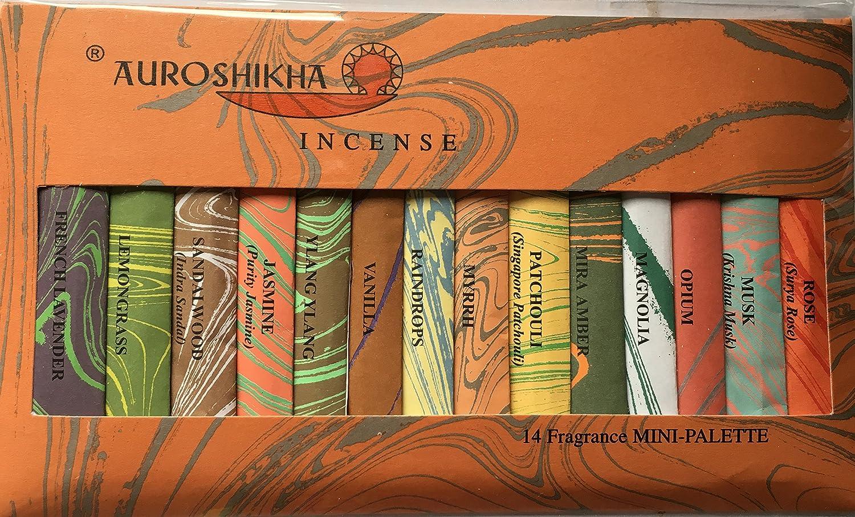 Auroshikha Mini-Incense Sticks 14 Fragrances