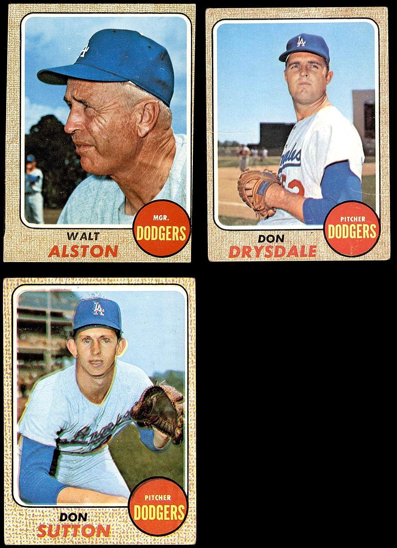 1968 Topps Los Angeles Dodgers Team Set Los Angeles Dodgers (Set) GD+ Dodgers