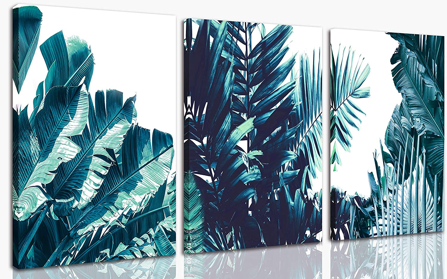 Aburaeart Monstera Plant Wall-Decor - Plants For Bedroom Decor -Wall Art For Living Room 3Piece Frame Easy To Hang On The Wall Size 12x16 Inches