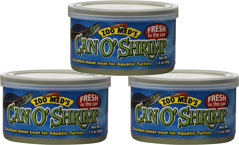(3 Pack) Zoo Med Labs Food Aquatic Can O' Shrimp 1.2 Ounce - High Proten Food Aquarium Fish