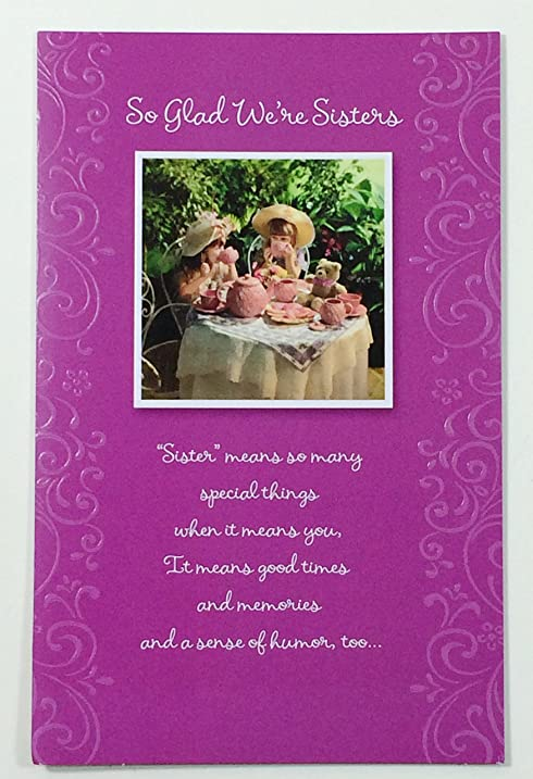 Amazon mothers day card sisterso glad were sisters mothers day card sisterso glad were sisters american m4hsunfo