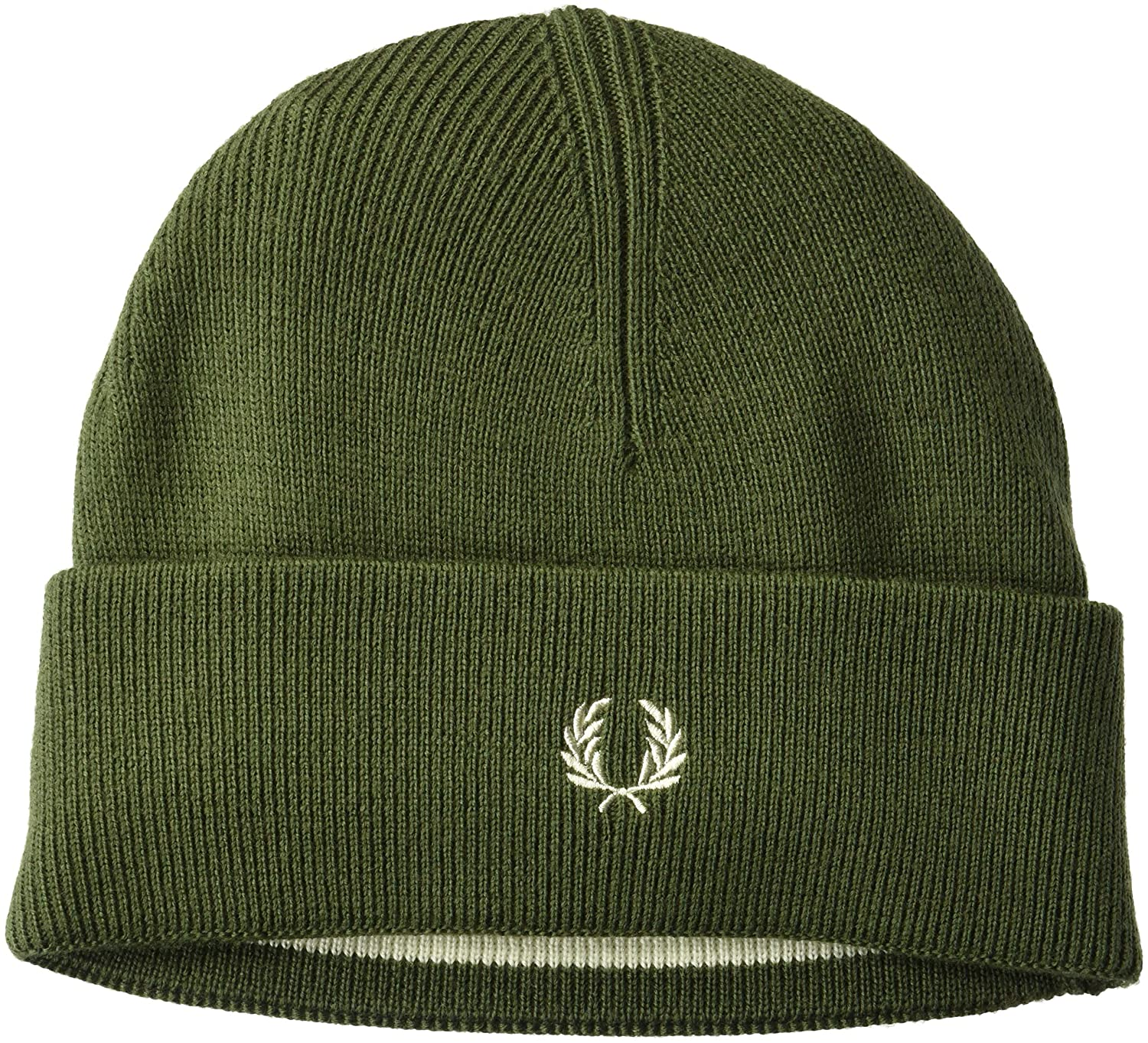 Fred Perry Men's Merino Wool Beanie Navy/Ecru ONE Size C9102
