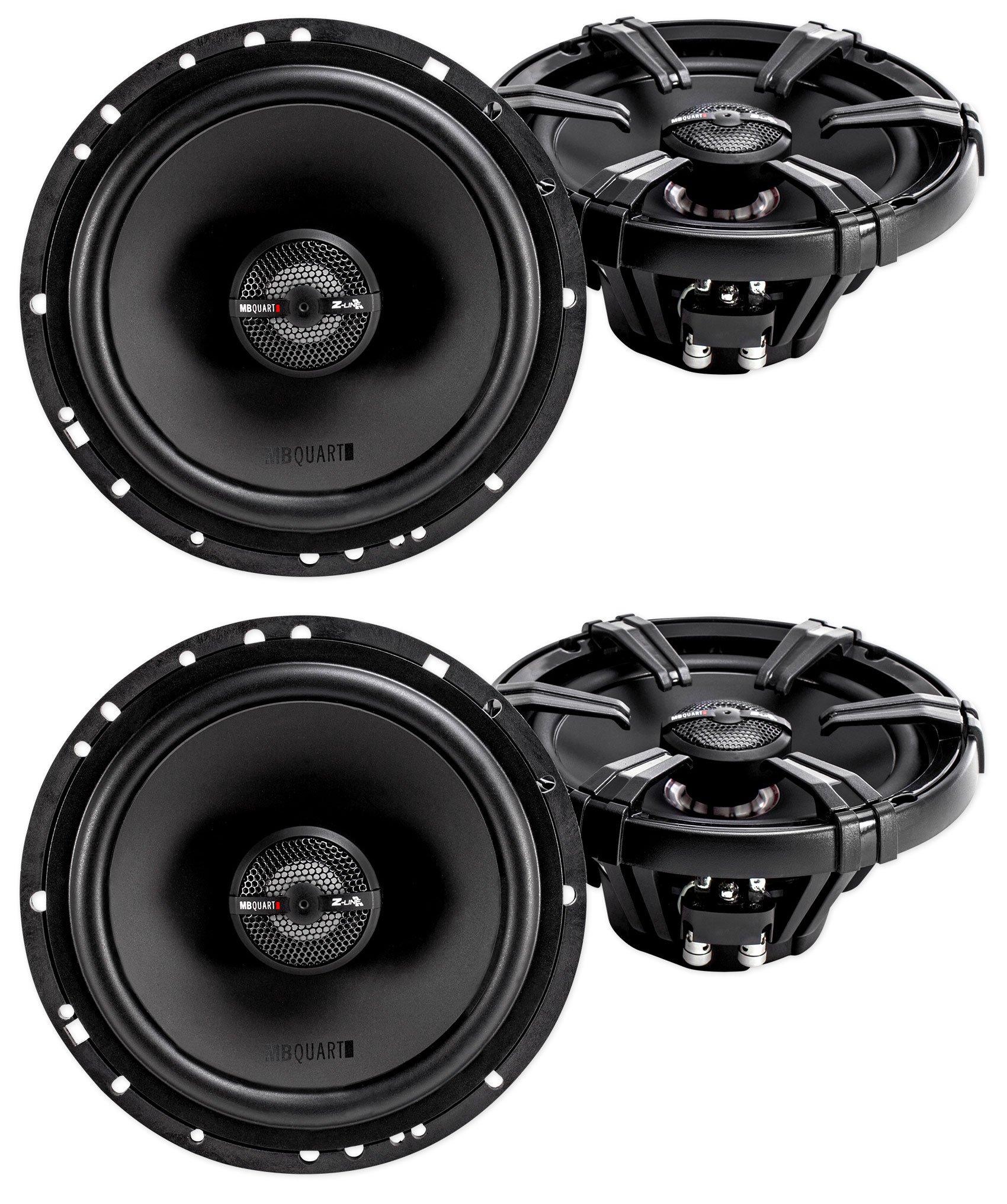 (4) MB Quart ZK1-116 6.5'' 480 Watt Car Audio Speakers w/Ceramic Coated Tweeters