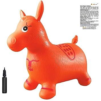 Amazon Com Orange Horse Hopper Pump Included Inflatable Space