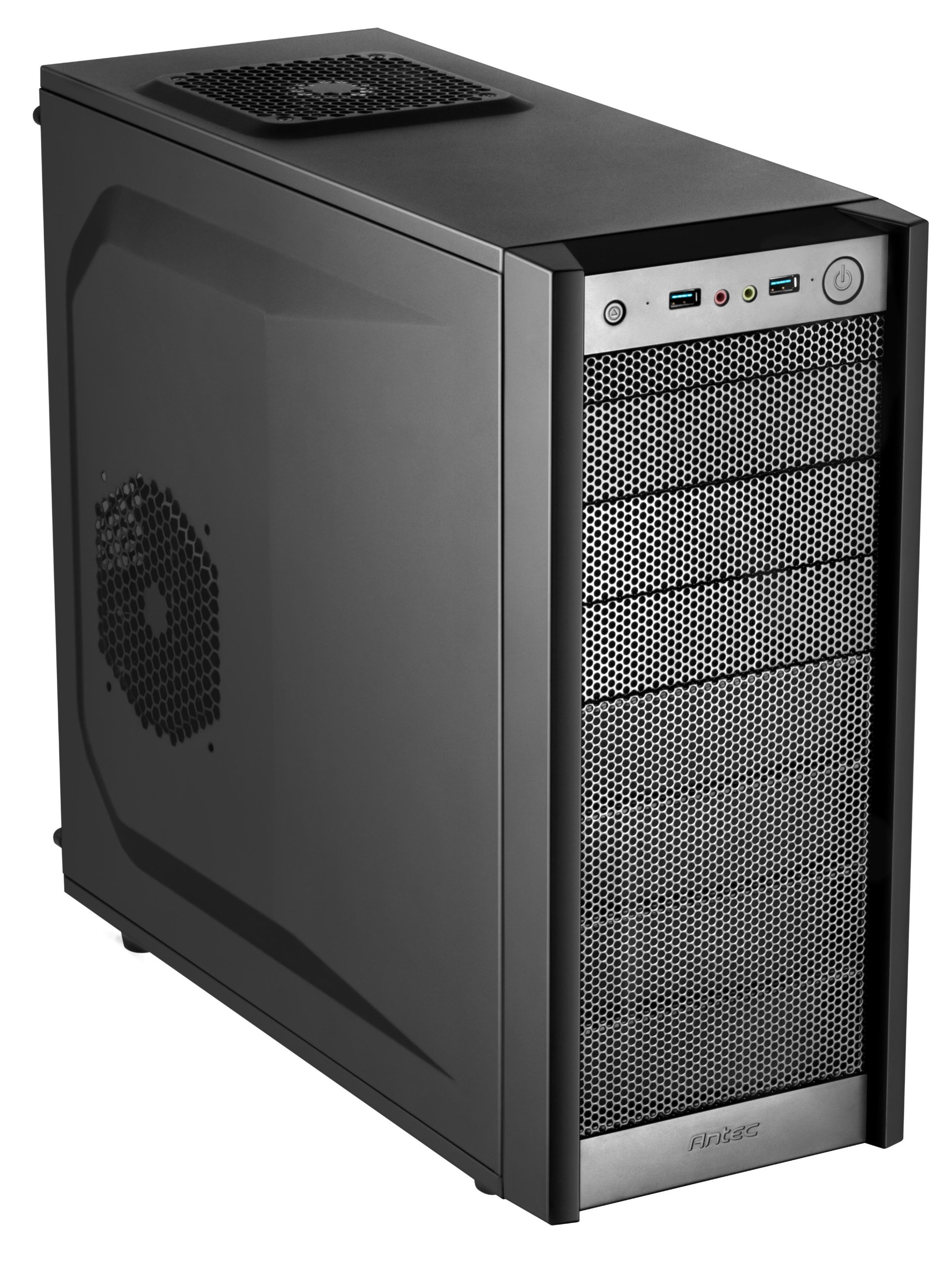 Antec Gaming Series ONE Mid-Tower PC/Gaming Computer Case with 10 Drive Bays, 120mm Fans x 2 Pre-Installed, 120/140mm Fan Mounts, USB 3.0 x 2, 7 PCI-E Slots, Max CPU Cutout for ATX, M-ATX and Mini-ITX by Antec